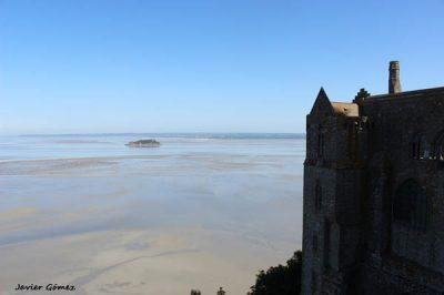 Subida de la marea en Mont Saint Michel
