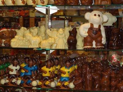 Tienda de chocolates en Bélgica
