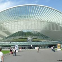 La estación de tren de Guillemins, en Lieja