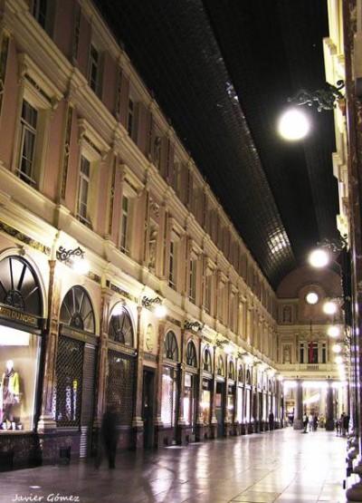 Galerías Saint Hubert de noche